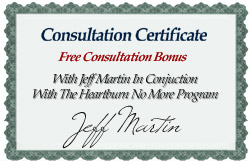 Consultation Certificate - Free Consultation Bonus With Jeff Martin in Conjuction With The Heartburn No More Program